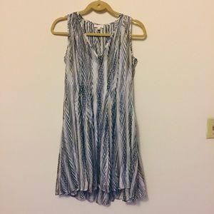 Shoshanna silk pleated dress with slip